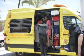 Herida una mujer de 34 años por la hélice de una lancha en Magaluf