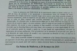 El PSOE denuncia al PP ante la Junta Electoral Provincial
