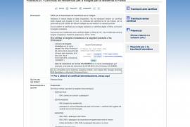 Un error informático en la web del Ajuntament de Palma impide obtener el certificado de residencia por internet