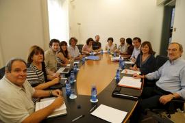 PSIB, Podemos y MÉS inician su segunda reunión para alcanzar un pacto de izquierdas