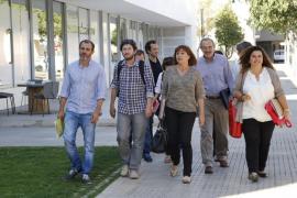 Armengol, Jarabo y Barceló admiten que no avanzan y buscan una salida global