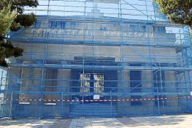 Tres meses de obras en la entrada del cementerio de Palma