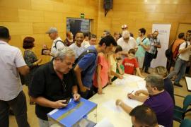 Los militantes de Som Palma expresan su rechazo a un alcalde socialista en Cort
