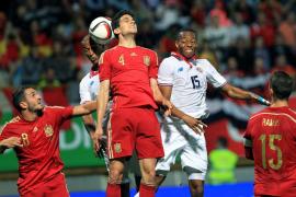 España remonta en el amistoso ante Costa Rica