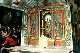 Halladas dos tablas de Cabrit y Bassa en el oratorio del Castell d'Alaró