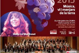 Maria del Mar Bonet y la Simfònica, en el 'Concert de la Lluna a les Vinyes'