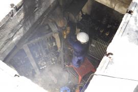 Un incendio en un transformador de GESA deja sin luz a cientos de personas durante horas en el centro de Palma