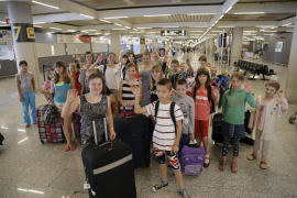 Llegan a Mallorca 40 niños de acogida procedentes de la zona de Chernóbil