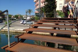 Lamentable estado de puentes y canal