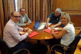 Delegación del Gobierno apuesta por la colaboración policial en Magaluf y Platja de Palma
