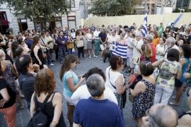 Acto en solidaridad con Grecia