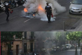 Arde un coche en pleno centro de Palma sin causar heridos