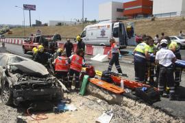 Cuatro heridos críticos en dos accidentes en Palma y la Colònia de Sant Jordi