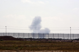 Bombardeo contra terroristas en el norte de la penínsulsa del Sinaí