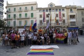Manifestación en Inca por la agresión homófoba al cantante Kevin Coll