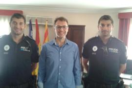 Toma de posesión de dos nuevos agentes de la Policía Local de Manacor
