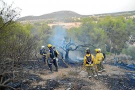 Sofocado el incendio forestal que se declaró junto a viviendas de Santa Ponça