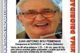 Piden colaboración ciudadana para encontrar al anciano de 86 años desaparecido en Palma