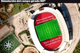 El Mallorca iniciará el lunes las obras para girar el campo si Cort lo autoriza