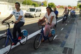Cort abre el carril bici que une el centro con el camí Salard