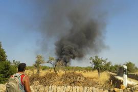 Incendio en una finca de Llucmajor