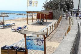 La playa de Cala Bona registra una serie de mejoras para garantizar la accesibilidad