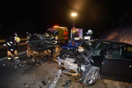 Tres heridos en un accidente cerca del túnel de Son Vich