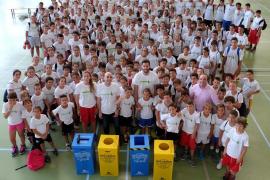 Rudy y Marta Fernández impulsan el reciclaje en su campus de verano