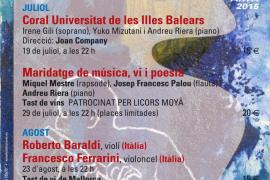 Vuelve el XXVII Festival de Música Clàssica d'Artà Antoni LLiteres