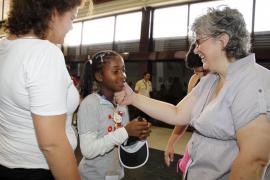Niños saharauis llegan a la Isla