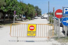 El colapso en ses Casetes des Capellans obliga a restringir el acceso de los coches