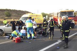 Fallece un bebé de 4 meses en una colisión entre dos vehículos en Madrid
