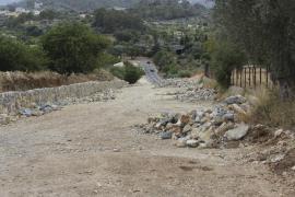 Reanudadas las obras de ampliación de la carretera Campanet-Moscari