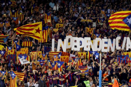 El Barça busca acordar con la UEFA la exhibición de esteladas