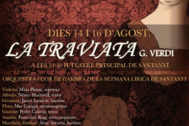 El Teatre Principal de Santanyí acogerá 'La Traviata' de G.Verdi