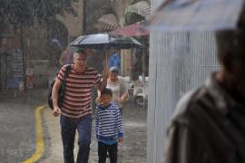 Casi el doble de lluvia de la que es habitual en agosto