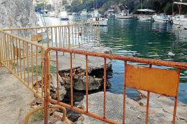 Los vecinos se quejan del mal estado del muelle del Caló d'en Boira en Santanyí