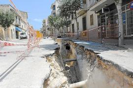 Las obras de la calle Santa Anna de Muro se alargarán hasta septiembre