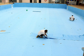 Inca repara la piscina de Crist Rei para evitar pérdidas de agua