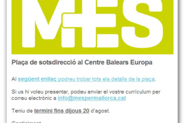 MÉS ofrece entre sus militantes un puesto de alto cargo en Bruselas