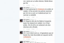 Cris Juanico denuncia un conflicto lingüístico con Baleària y ésta lo niega