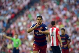El Barcelona, con un gol de Suárez, supera a un Athletic cansado