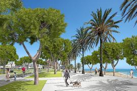 Cort quiere ampliar la playa de Can Pere Antoni hasta llegar al Parc de la Mar