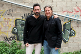 Tolo Servera y Norbert Fimpel, juntos en el Castell de Son Mas
