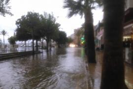 comercios inundados