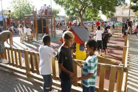 Los niños sahararuis,  de fiesta