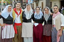 Santa Margalida sale a la calle en sa Processó