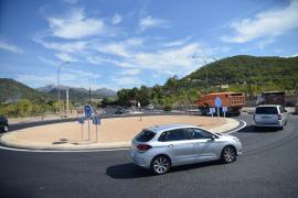 La futura rotonda de circulación en el cruce de es Rieral está casi finalizada
