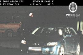 Detenido un conductor de 19 años por circular a 121 kilómetros hora por la calle Aragón