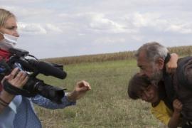 El refugiado zancadilleado por la periodista húngara trabajará en Getafe